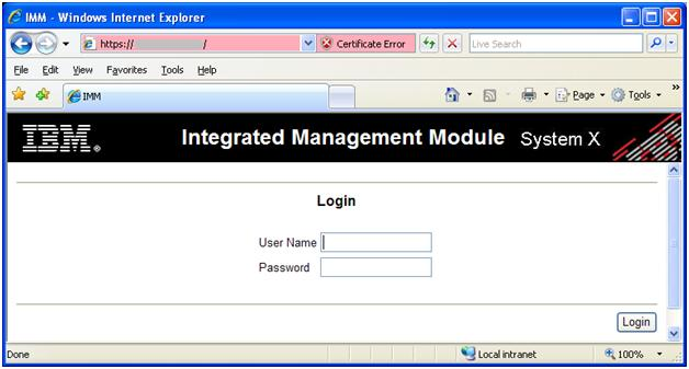 Reset IBM IMM (Integrated Management Module) also called IBM RSA