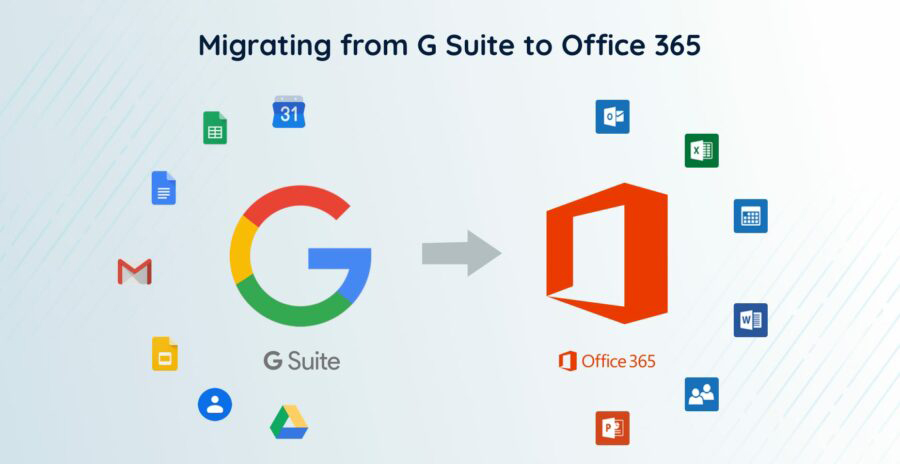 How to migration from Google G Suite to Microsoft Office 365