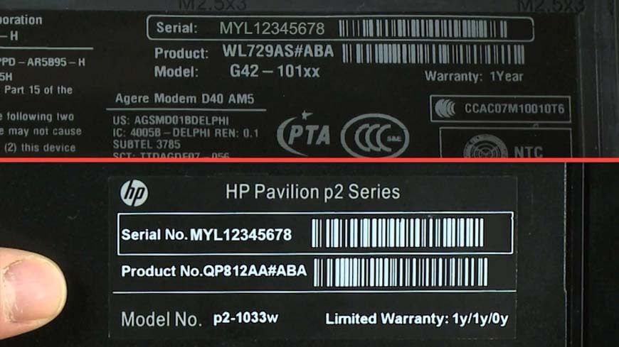 where find laptop serial number